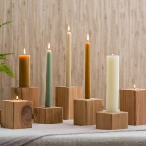 Accent Candles and Candle Holders